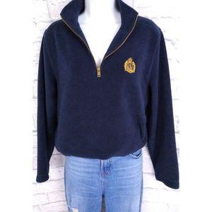 Ralph Lauren Crested Fleece 1/4 Zip Pullover Navy